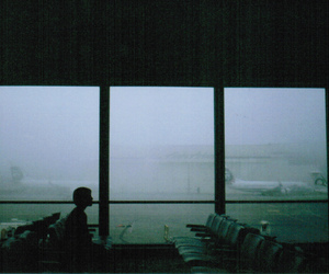 airport, alone, and travel image