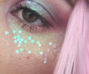 pink, stars, and makeup image