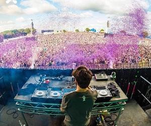 dj, festival, and music image