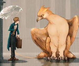 hp, thunderbird, and fantastic beasts image