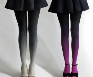 fashion, tights, and skirt image