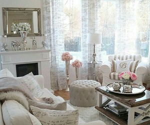 living room, home, and pink image
