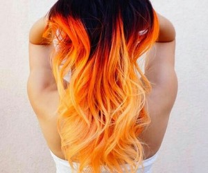 hair, orange, and black image