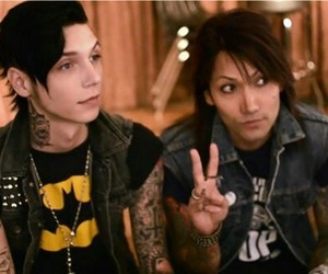 black veil brides, ashley purdy, and andy biersack image