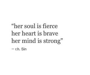 brave, fierce, and motivation image