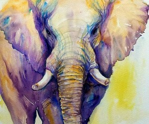 art, beautiful, and elephant image