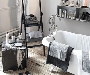 bathroom, bathtub, and interior image