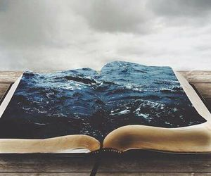 book, sea, and ocean image