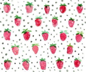 strawberry and pattern image