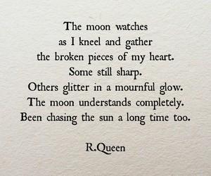 moon, poem, and sun image