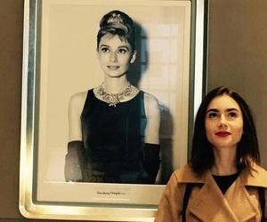 lily collins, audrey hepburn, and actress image