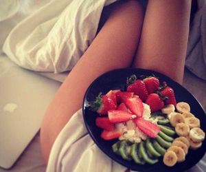 fruit, food, and legs image