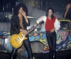 slash, michael jackson, and king of pop image