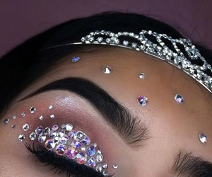makeup, beauty, and diamond image