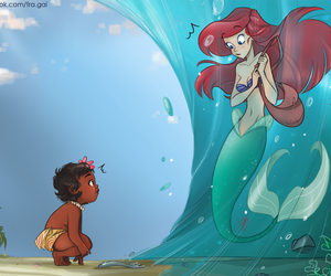 ariel, disney, and moana image