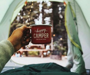 camping, winter, and december image