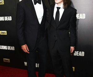 andrew lincoln, twd, and chandler riggs image