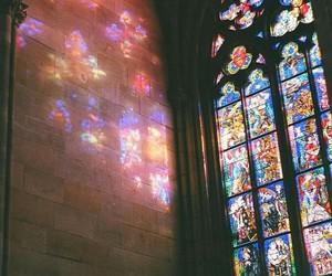 church, window, and light image