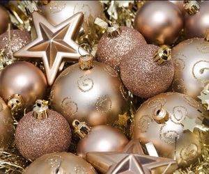 christmas, gold, and stars image