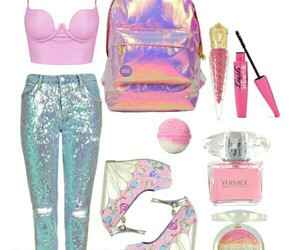 glitter, mermaid, and outfit image