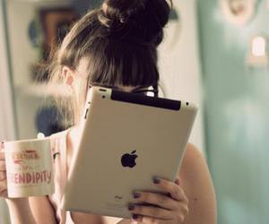 girl, ipad, and photography image