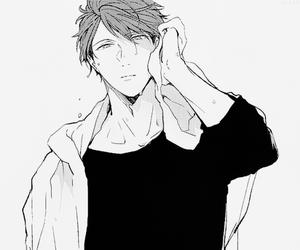 haikyuu, manga, and manga boy image
