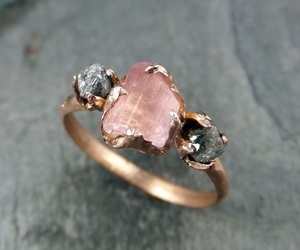 ring, pink, and gold image