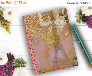 eiffel tower, etsy, and girl image