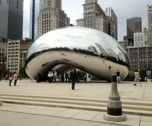 anish kapoor, cloud gate, and cook county image