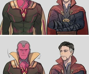 Marvel, comic, and vision image