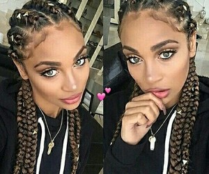 Afro, beauty, and braids image