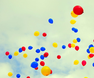 balloons, blue, and festival image