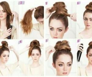 hairstyle, tutorial, and peinado image