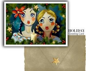 christmas, xmas, and holiday greeting card image