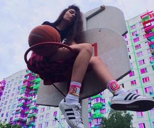girl, Basketball, and tumblr image