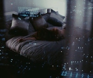 light, night, and bed image