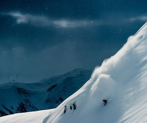night, passion, and Skiing image