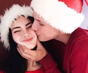 couple, christmas, and goals image