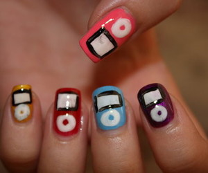 fingernails, ipod, and ipods image