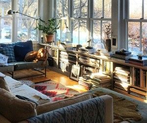 home, book, and dog image