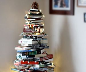 book, christmas, and tree image