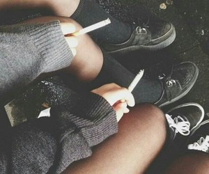 grunge, smoke, and cigarette image