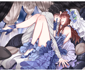 anime, mystic messenger, and couple image