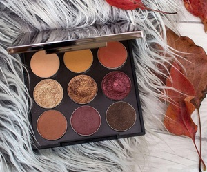 makeup, eyeshadow, and fall image