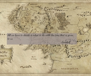 middle earth, map, and the hobbit image