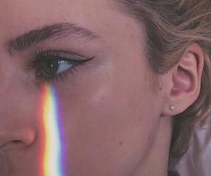 rainbow, tumblr, and eye image