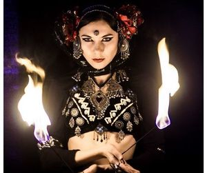dancer, fire, and bellydance image