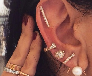 earing, fashion, and piercing image