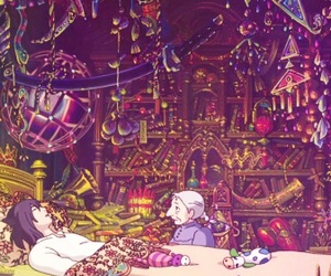 background, howl's moving castle, and sophie image