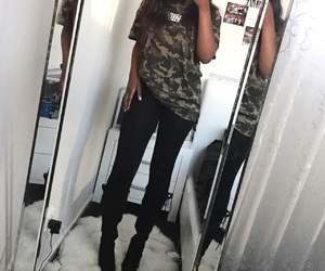 aesthetic, camo, and outfit image
